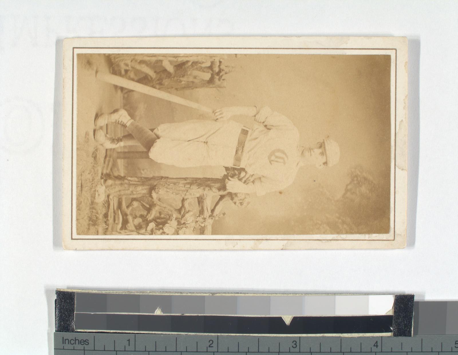 Unidentified baseball player, C.