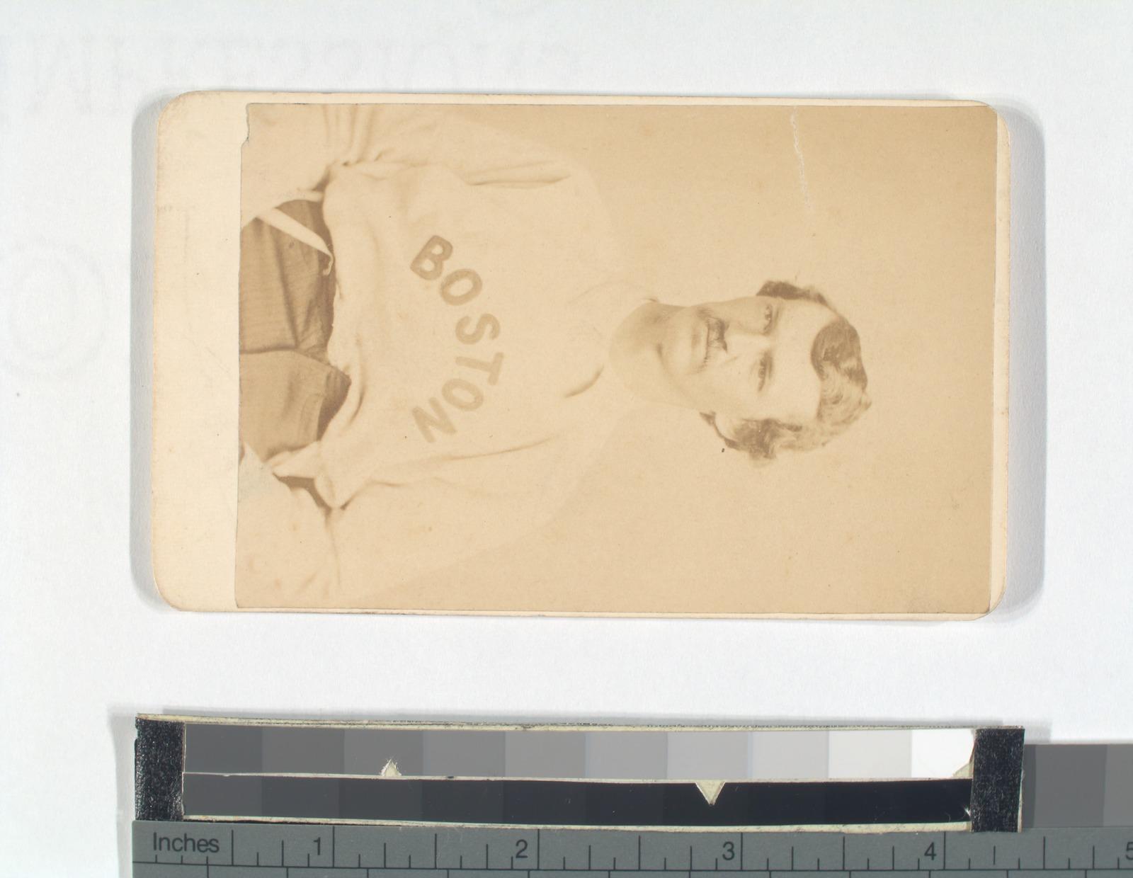 Unidentified baseball player with mustache, Boston.
