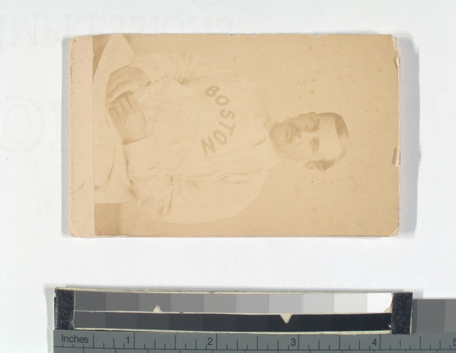 Unidentified baseball player with mustache, Boston.