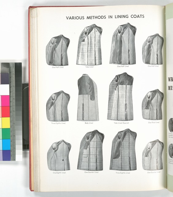 Various methods in lining coats.