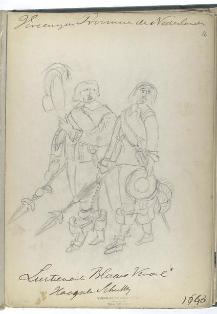 Vereenigde Provincien der Nederlanden. Luitenant Blaauwe Vendel Haa...[?]. 1643