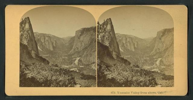 Yosemite Valley from above, Cal.