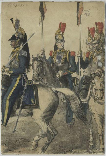 2-e et 1-er Régiments de Cuirassiers. 1853