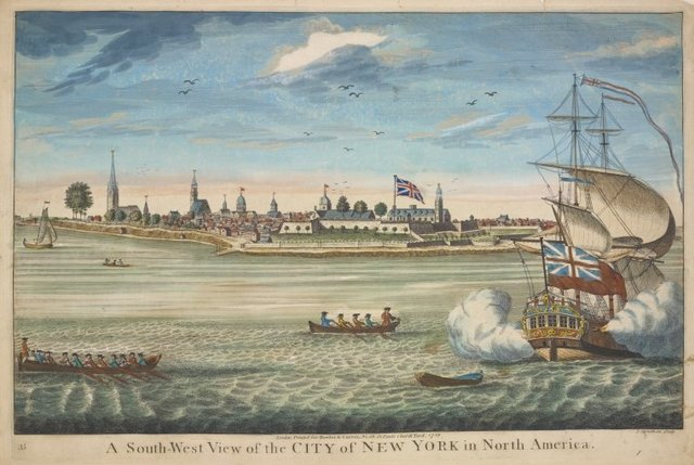 A south-west view of the City of New York in North America