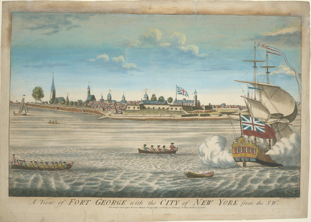 A view of Fort George with the city of New York, from the SW.
