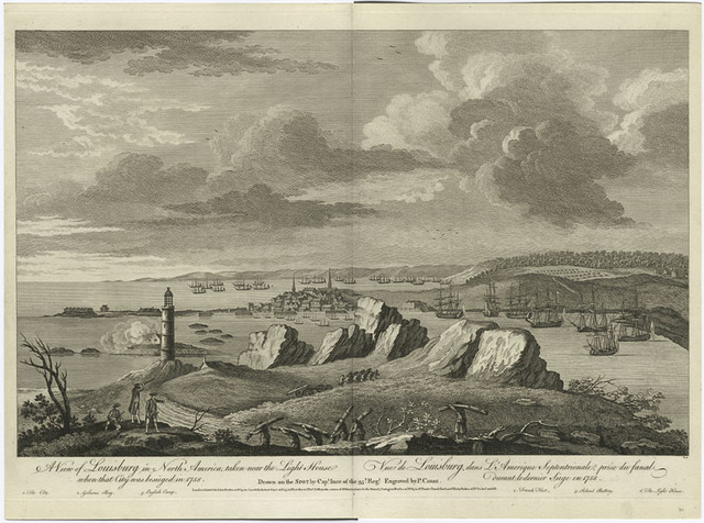 A view of Louisburg in North America, taken near the light house when that city was besieged in 1758.