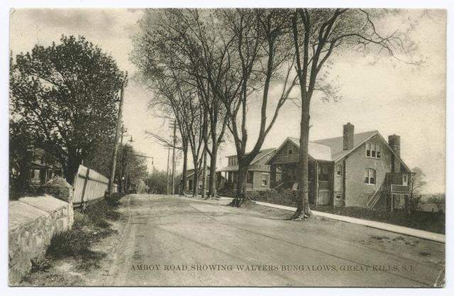 Amboy Road Showing Walters Bungalows, Great Kills, S.I. [houses along street]