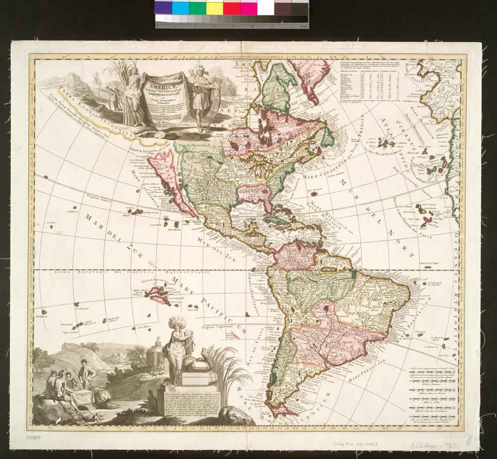 Americae tam septentrionalis quam meridionalis in mappa geographica delineatio ....
