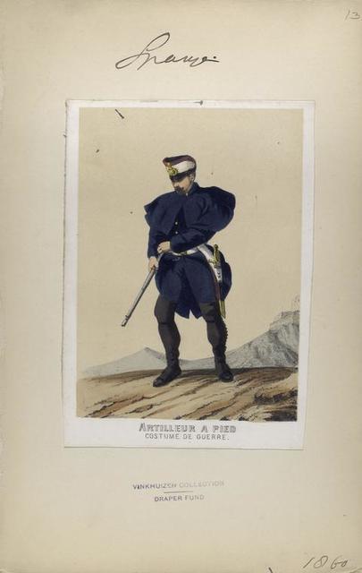 Artilleur à pied (costume de guerre). 1860