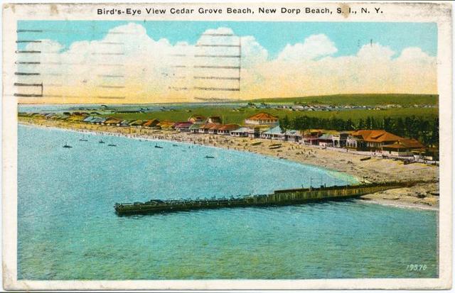 Bird's-Eye View Cedar Grove Beach, New Dorp Beach, S.I., N.Y.