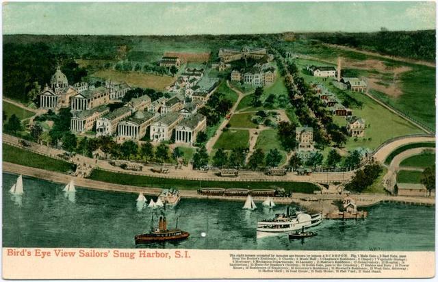 Bird's Eye View Sailors Snug Harbor, Staten Island  [includes description of all 27 buildings]