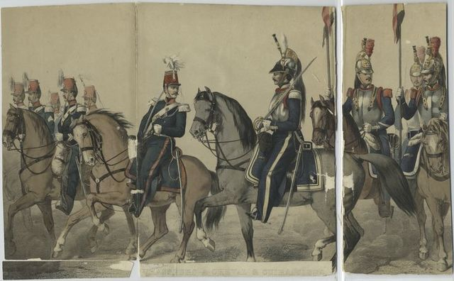 Chasseurs à cheval & Cuirassiers.