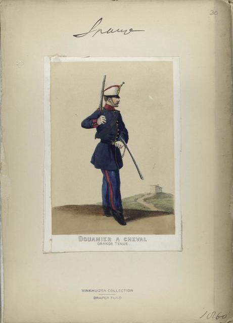 Douanier à cheval (grande tenue). 1860