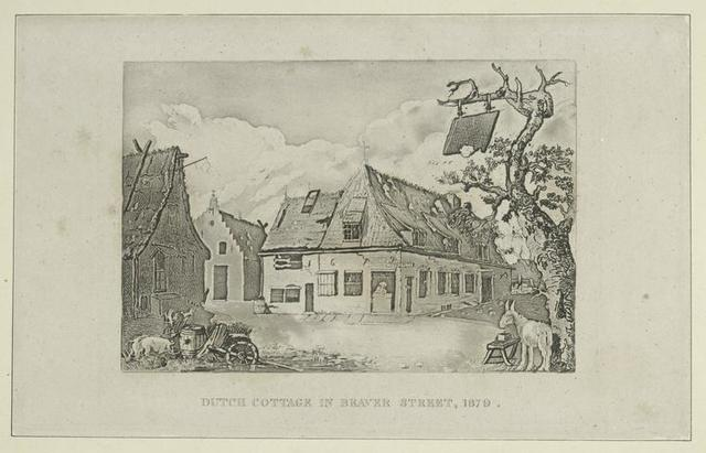 Dutch cottage in Beaver Street, 1679.