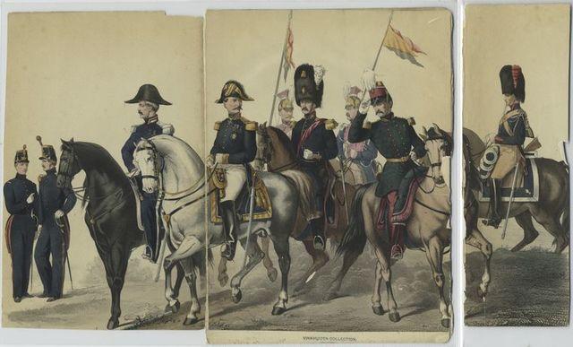 École militaire, Commandant de place, Lieutenant Général, Aide-de-camp, Officier d'état-major, Gendarme.