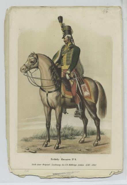 Erdödy Husaren No. 9. (Nach einer Original-Zeichnung des k.k. Hofkriegs-Archiv's  1783-1805)