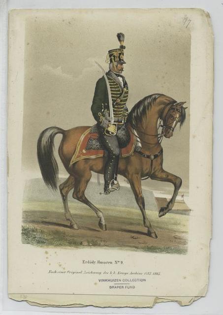 Erdödy Husaren No. 9. (Nach einer Original-Zeichnung des k.k. Kriegs-Archiv's  1783-1805)