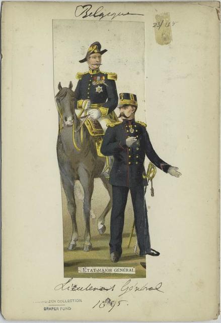 État major général : lieutenant général, 1895