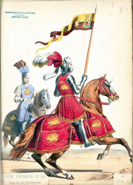 Garde Ordinaire du Roi, corps des 200 Gentilshommes, Louis XII.