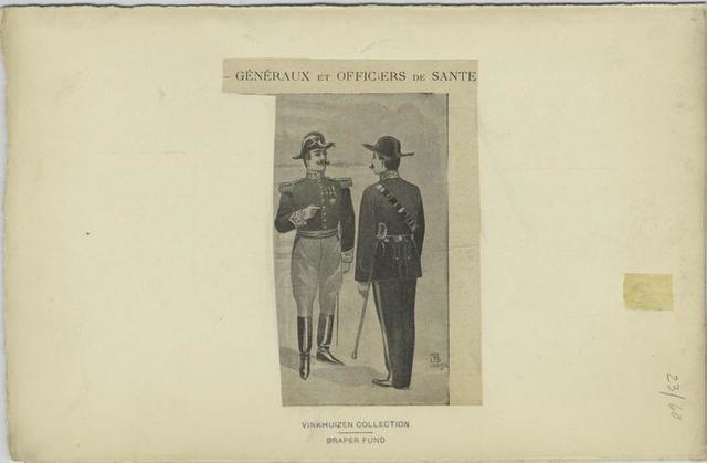 Généraux et officiers de sante
