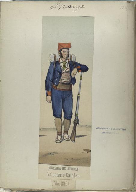 Guerra de Africa. Voluntario Catalan. 1860