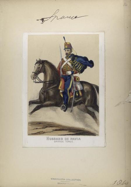 Hussard de Pavia (grande tenue). 1860