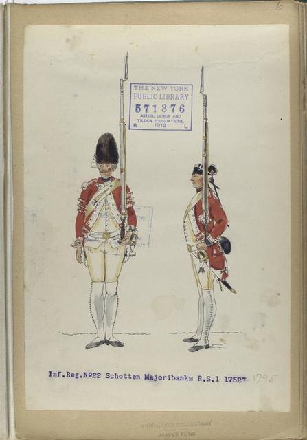 Inf. Reg. No. 22 Schotten Majoribanks  R. S. 1. 1752-1797
