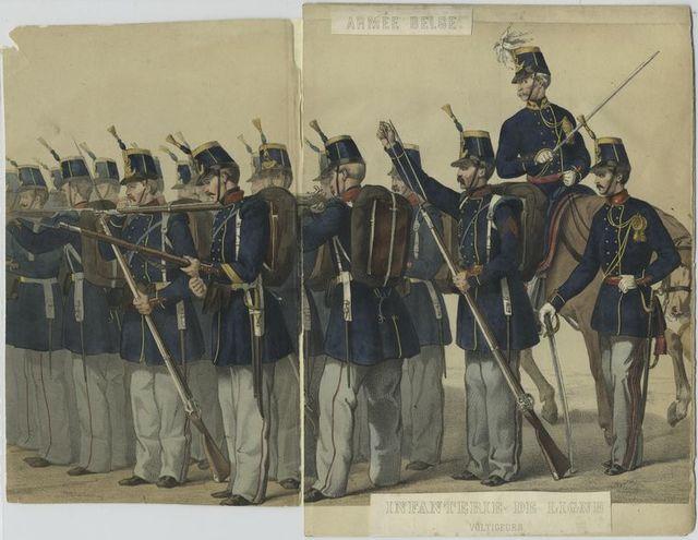 Infanterie de ligne. Voltigeurs.