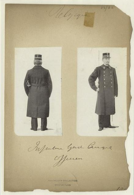 Infanterie garde civique officier