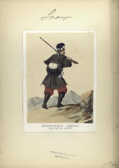 Infanterie légère (costume de guerre). 1860