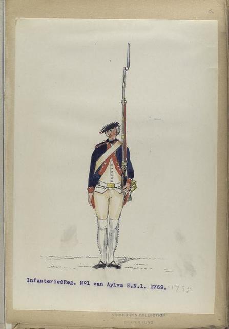 Infanterie Reg. No. 1  van Aylva  R. N. 15.  1769-1795