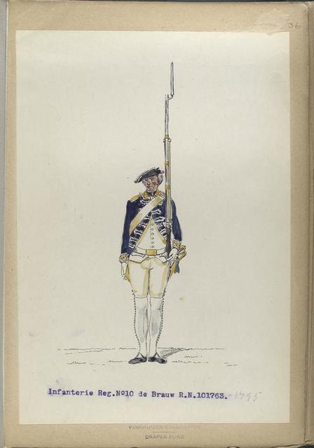 Infanterie Reg. No. 10  de Brauw R.N.10. 1763-1795