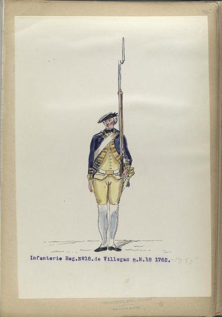 Infanterie Reg. No. 18  de Villegas  R.N.18. 1762-1795