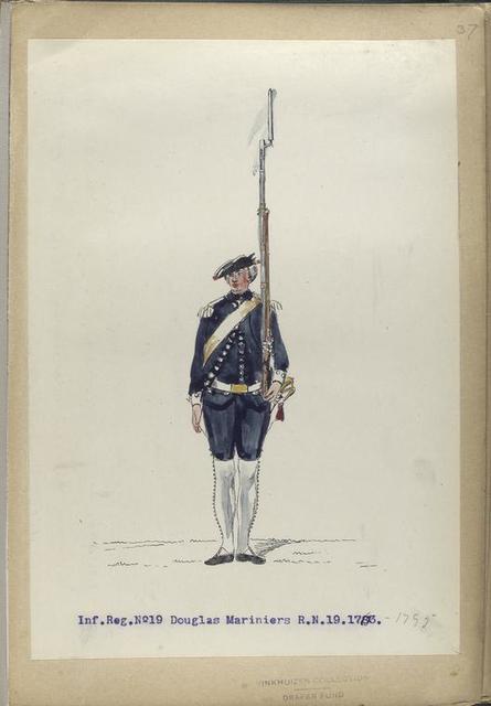 Infanterie Reg. No. 19  Douglas Mariniers  R.N.19. 1763-1795