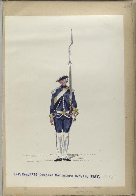 Infanterie Reg. No. 19  Douglas Mariniers R.N.19. 1765-1795