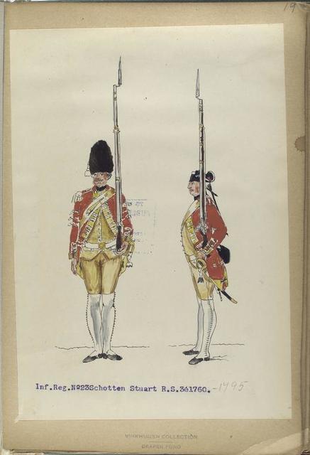 Infanterie  Reg. No. 23 Schotten Stuart  R. S. 3. 1760-1795