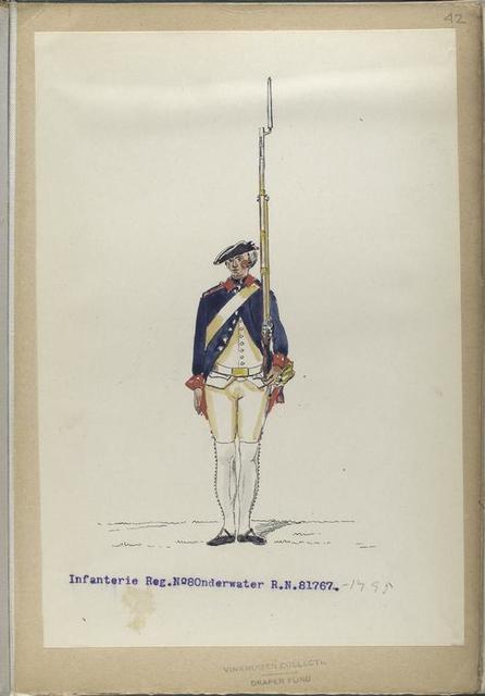 Infanterie Reg. No. 8  Onderwater  R.N.12. 1767-1795