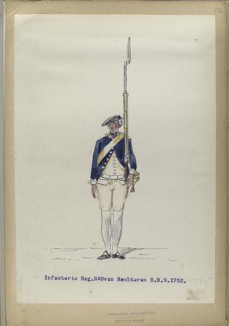 Infanterie Reg. No. 9 van Rechteren  R. N. 9.   1752-1795