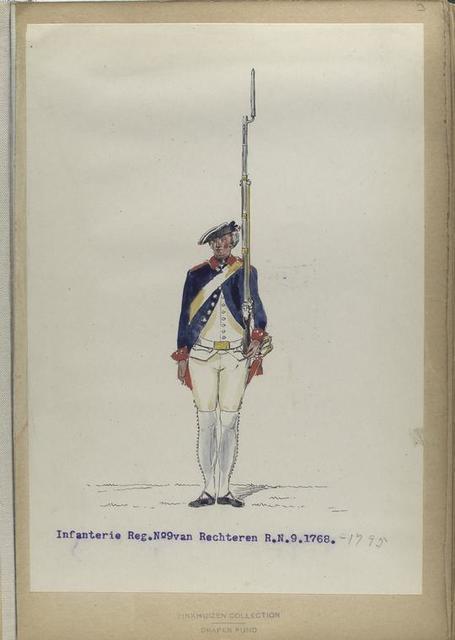 Infanterie Reg. No. 9  van Rechteren  R. N. 9. 1768-1795
