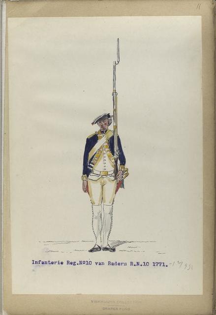 Infanterie Reg. No.10 van Raders  R. N. 10.  1771-1795