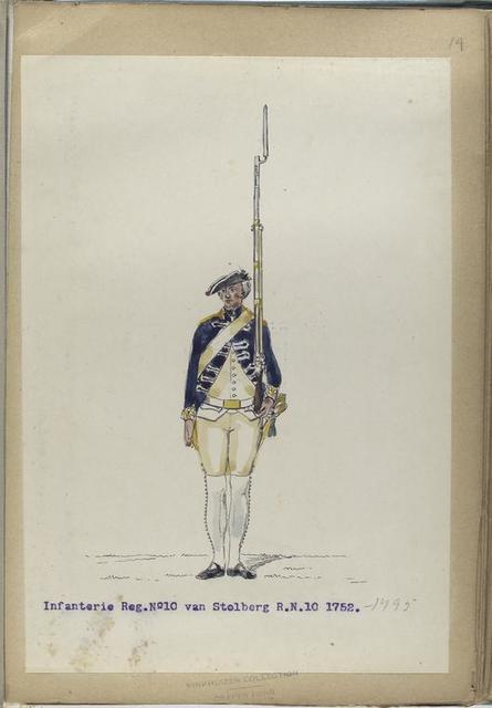 Infanterie Reg. No.10 van Stolberg  R. N. 10.   1752-1795