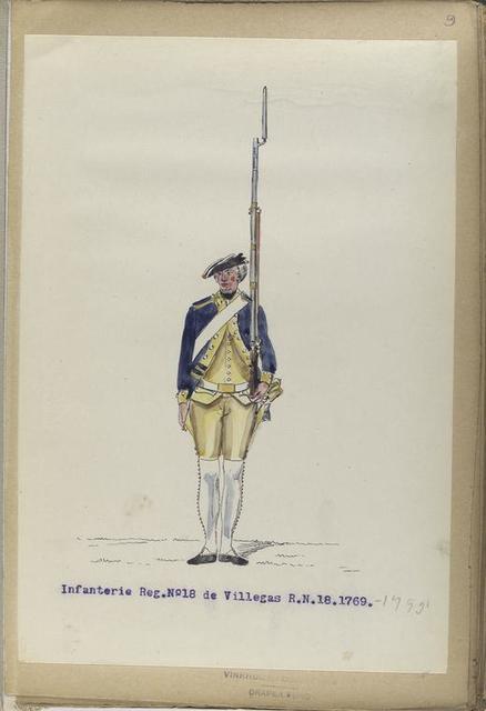 Infanterie Reg. No.18  de Villegas  R. N. 18.  1769-1795