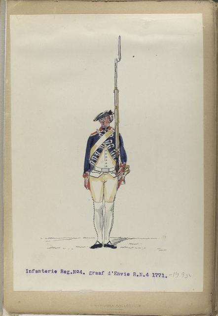 Infanterie Reg. No.4 graaf d'Envie  R. N. 4.  1771-1795
