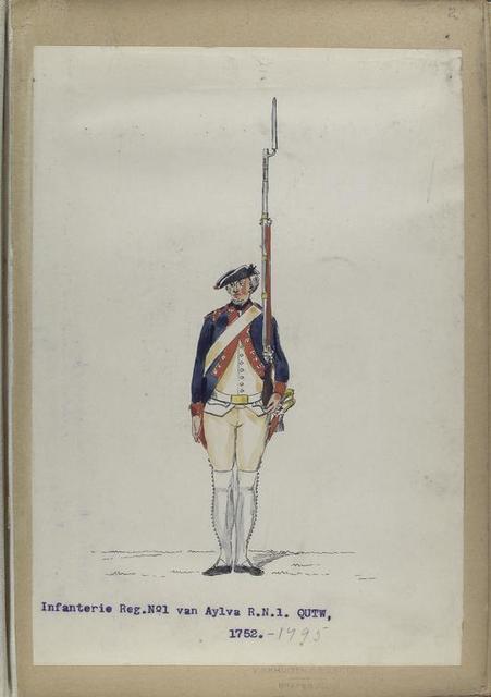 Infanterie Regiment No. 1 van Aylva  R. N. 1. QUTW. 1752-1795