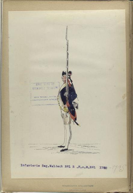 Infanterie Regiment Waldeck No.1 R. F. v. W. No.1. 1752-1795