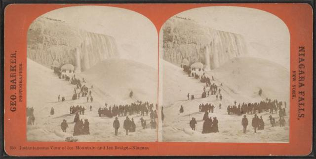 Instantaneous View of ice mountain and ice bridge, Niagara.