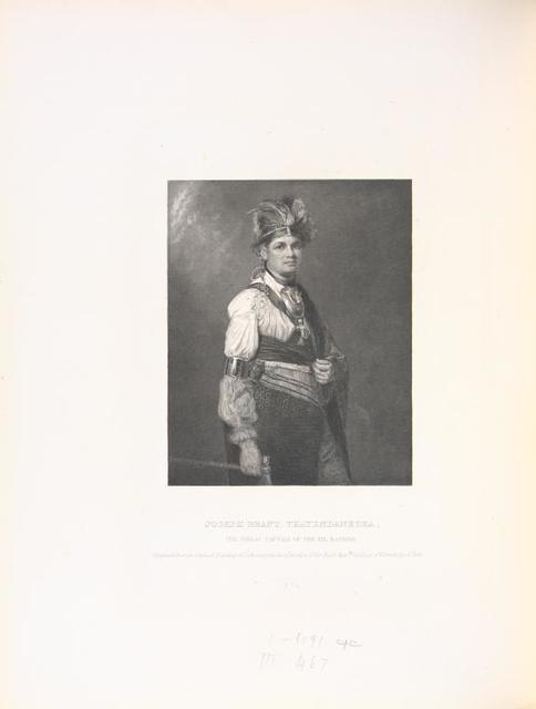 Joseph Brant, Thayendanegea, the great captain of the six nations.