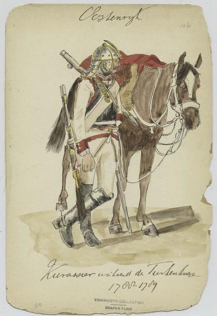 Kürassier während der Turkenkriege 1788-1789.