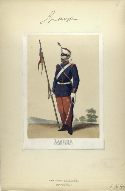 Lancier (grande tenue). 1860