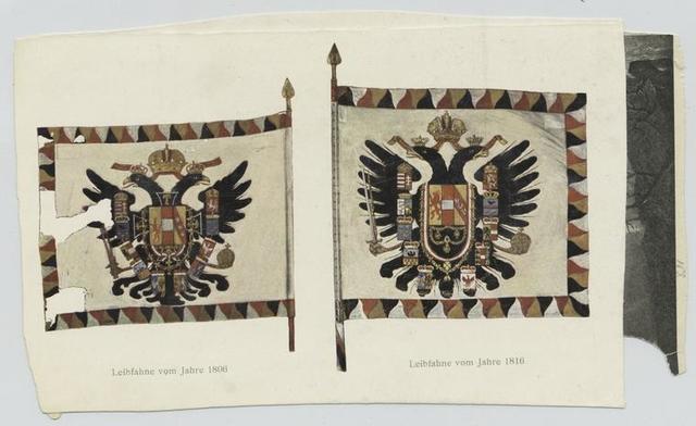Leibfahne vom Jahre 1806 ; Leibfahne vom Jahre 1816